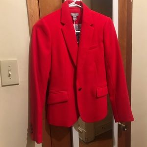 Vibrant Red Work/Casual Blazer, Size XS